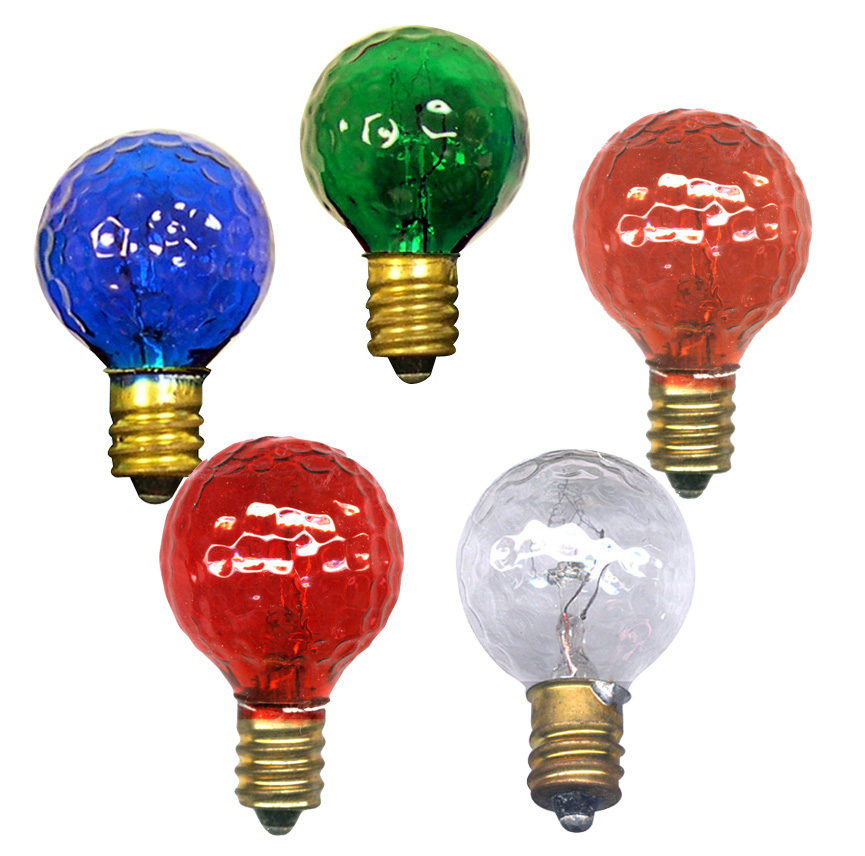 Light Bulbs Colored Amp Clear Round Candelabra Base