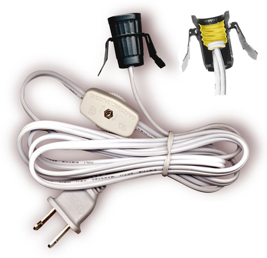 lamp cord sets with socket switch and molded plug spt 1 wire. Black Bedroom Furniture Sets. Home Design Ideas
