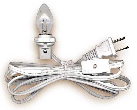lamp cord sets with candelabra base light bulb national. Black Bedroom Furniture Sets. Home Design Ideas