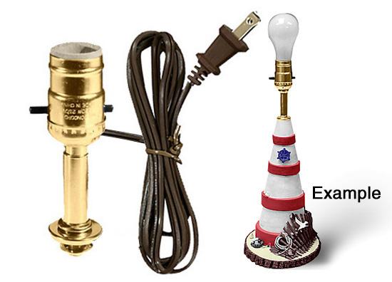 Lamp Making Kits With Medium Edison Style Sockets
