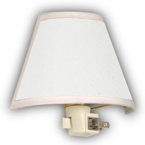 Self Adhesive Lamp Shade Kit : Night lights with traditional style shade national artcraft