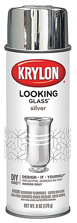 looking glass mirror like paint spray finish from krylon. Black Bedroom Furniture Sets. Home Design Ideas