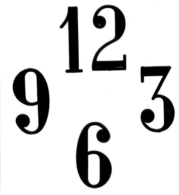 Clock Numerals Dots Amp Dashes Non Stick National Artcraft
