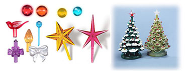 Ceramic Christmas Tree Lights, Bulbs, Ornaments and Decorations ...