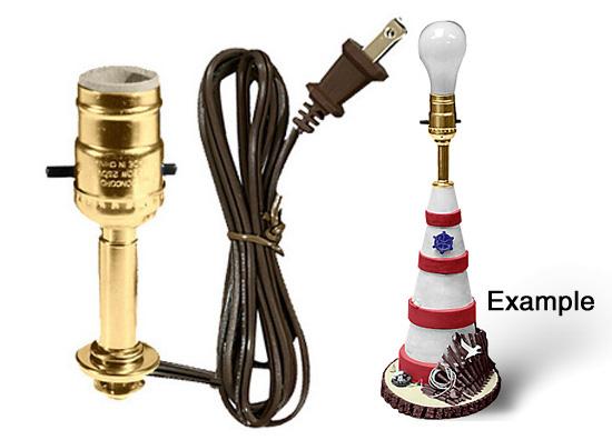 Lamp Making Kits with Medium Edison Style Sockets - National Artcraft