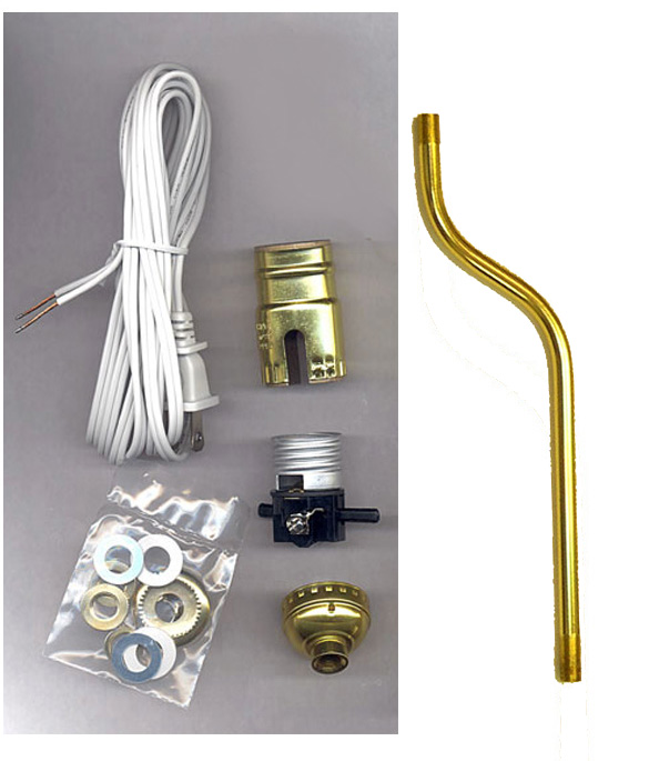 lamp making kits with 2 offset bent pipe national artcraft