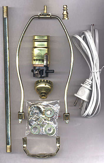 National Artcraft Lamp Making Kits With Straight Pipe National Artcraft