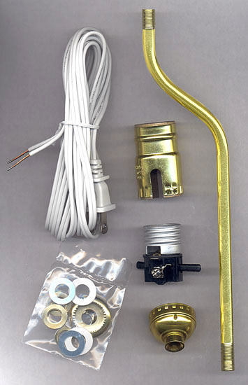 Lamp making kits with 2 offset bent pipe national artcraft for Making a light bulb pipe