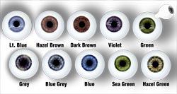14mm VIOLET Glastic Realistic Acrylic Doll Eyes