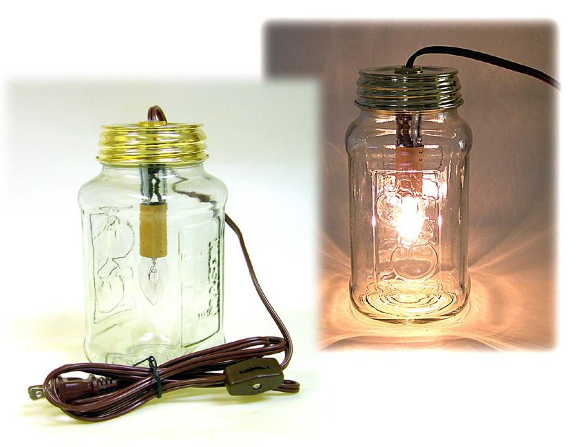(E) Mason Jar Lid Night Light Kit With 6 Ft. Brown Cord U0026 4W Bulb$7.90 U0026 Up