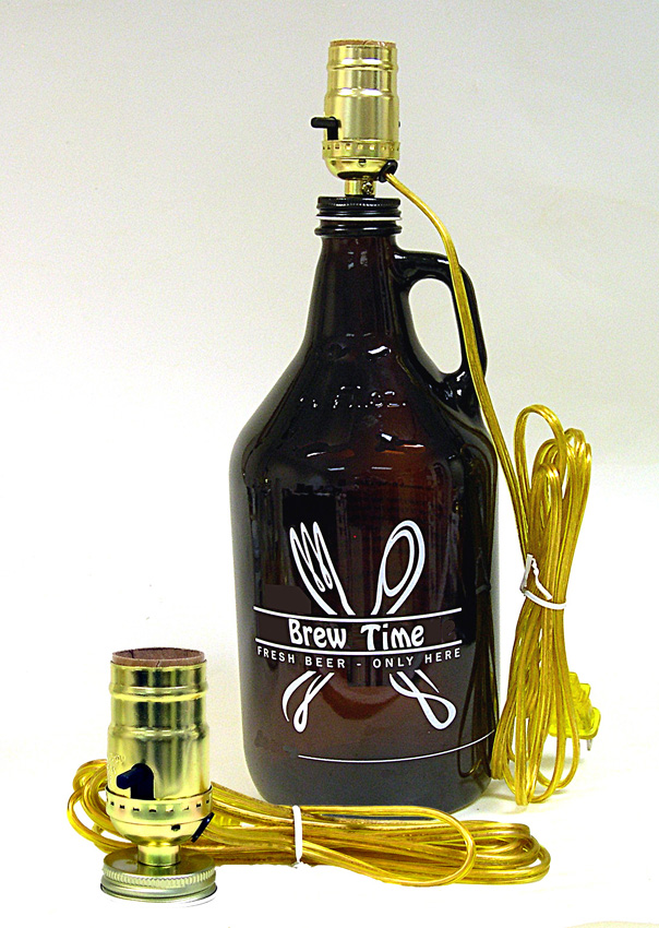 Beer Growler LAMP KITS are pre wired and